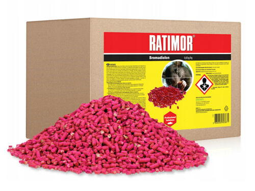 Rattengift 5kg Rattenköder Mäusegift RATIMOR brodifacoum Korn Rattengift