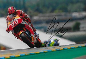 """Marc Márquez #93 Signed Honda 8""""x12"""" Moto Gp Photo Coa High Quality Materials spain"""