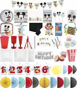 Details zu Kinder-Geburtstag Premium Party Deko Feier Fete Motto Mickey  Mouse