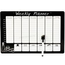 Magnético wipeable planificador Semanal Organizador Memo tablón de anuncios Pen Nevera Imán