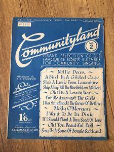 Details about Sheet Music Book Communityland 2- Community Songs Ukulele  Guitar Piano Accordion