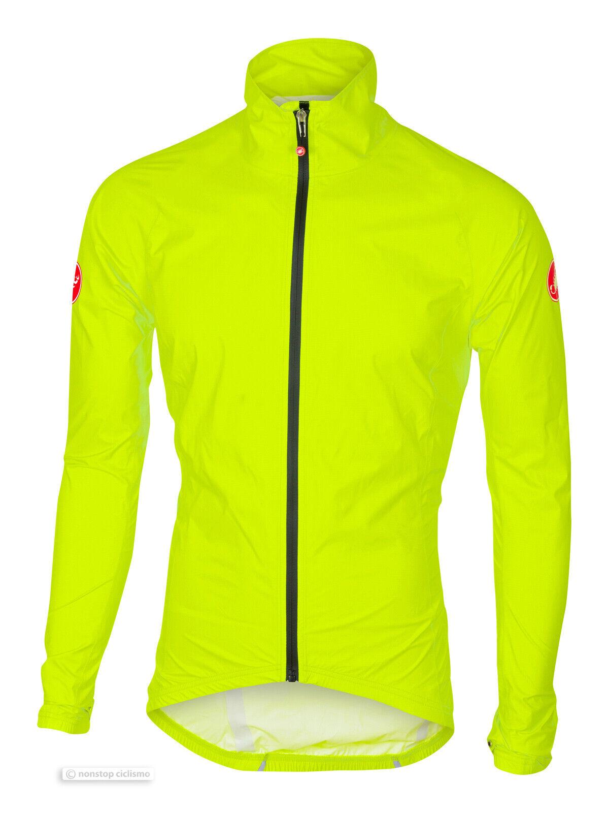 Castelli Emergencia Chubasquero  Ciclismo Prueba Viento   Shell  Amarillo Fluo  alto descuento