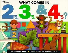 What Comes in 2's, 3's And 4's? by Suzanne Aker (1992, Picture Book)