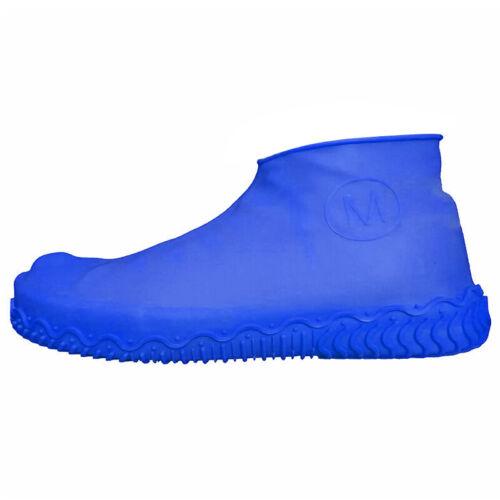 Waterproof Rubber Overshoe Rain Boot Shoe Covers Anti-slip Durable Reusable Bike