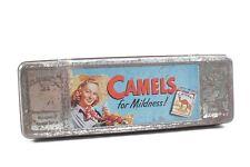 Hermosas viejas lata camels cigarrillos original lata de coleccionista