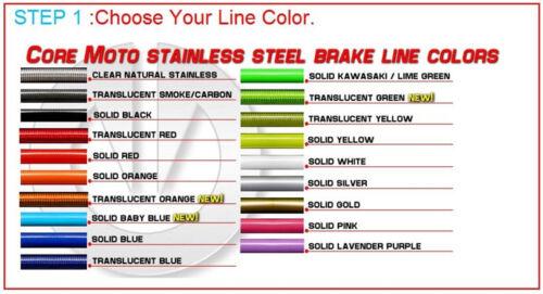 Custom Front Brake Line Kit fits 1999 2002 Yamaha YZ250 CF0051