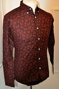Mod-1960s-style-paisley-shirt-black-with-red-paisley-print-Pop-Boutique-L-42-034