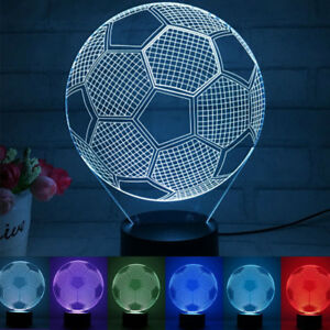 Image Is Loading Football Model Led Soccer Ball Table Lamp
