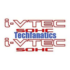 2Pcs RED I-VTEC SOHC STICKER DECAL EMBLEM CIVIC S2000 ACCORD JDM IMPORT ILLEST