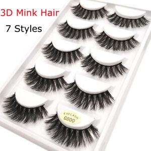 SKONHED-5-Pairs-3D-6D-100-Mink-Hair-Soft-Long-False-Eyelashes-Wispy-Fluffy