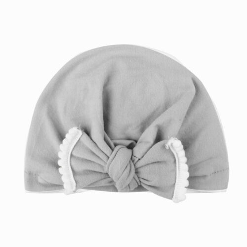 Cute Newborn Baby Girls Toddler Hospital Cap Infant Comfy Bowknot Beanie Hat FA