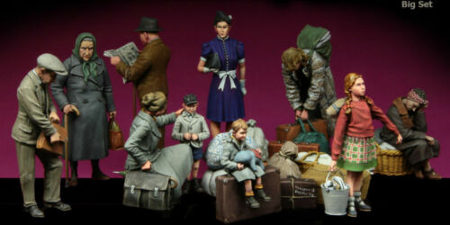 135 WW2 European Civilians Children Big Set High Quality Resin Kit