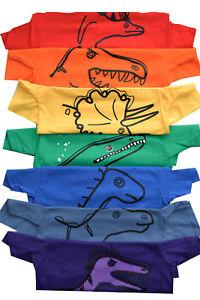 """Lot De 7 Kids Coloursaurs Dinosaure T. Shirts. Tous Différents Modèles/couleurs.-s."""" afficher Le Titre D'origine"""