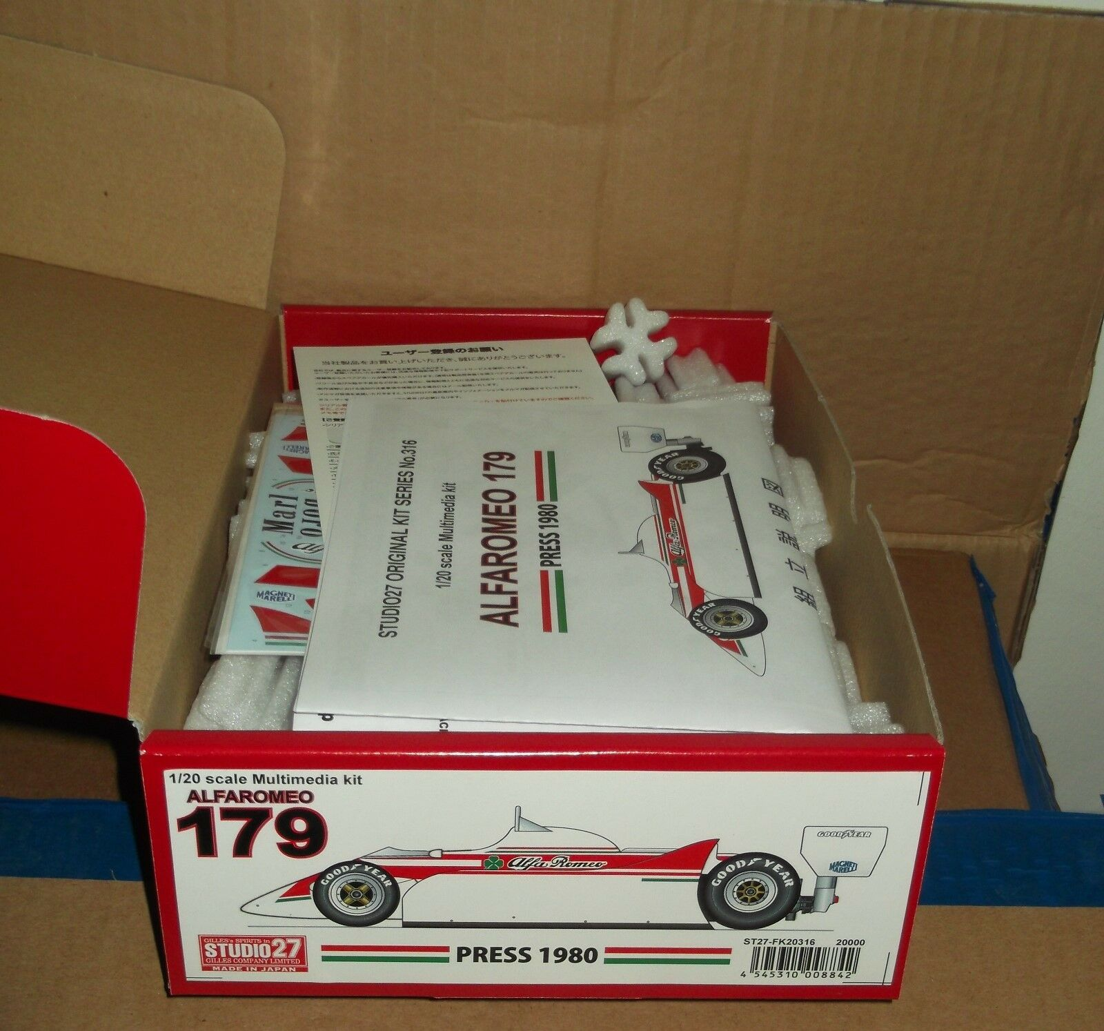 Studio 27 ALFA ROMEO 179 press 1980 1/20 scale model kit ST27-FK20316