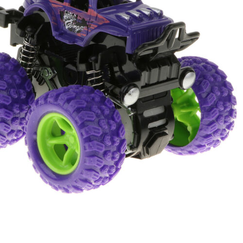 for Age 3 Purple 1:36 Mini Friction Power Car Big Wheel Model Deluxe Toy