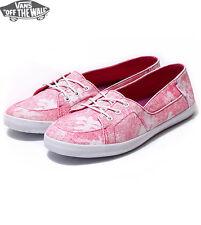 Vans Off the Wall Surf Shoes Palisades Pink Hawaiian Floral Womens 9 Flats