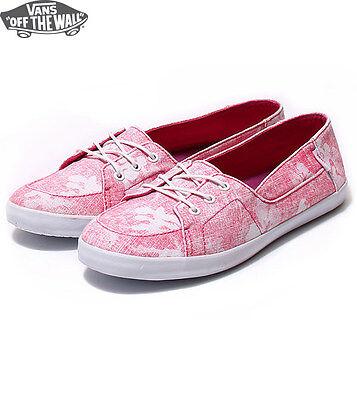 Vans Off The Wall Surf Zapatos Palisades Rosa Flores Hawaianas Mujer | eBay