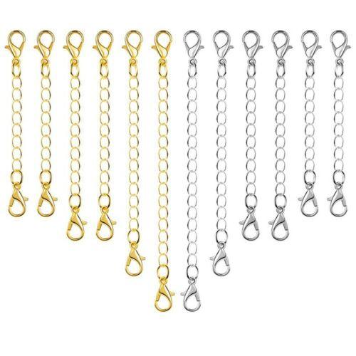 10X Necklace Extender Chain Lobster Clasps Bracelet Metal DIY Jewelry Making RK