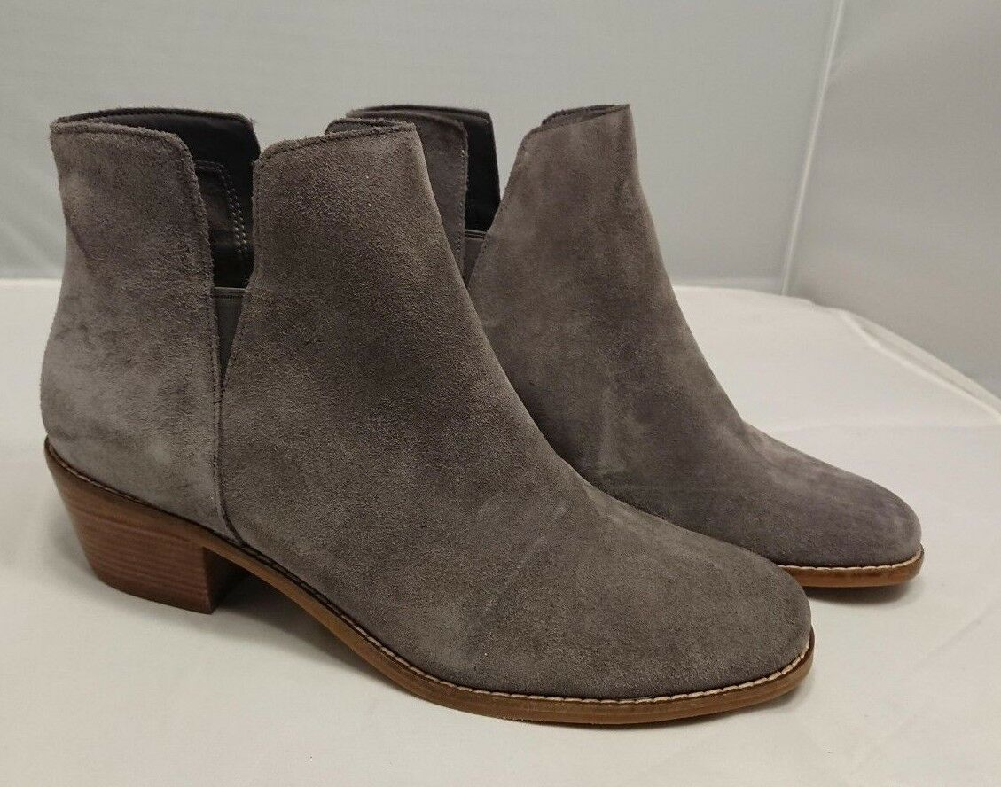 8.5 NEW Cole Haan Abbot Bootie Stormcloud Grey Suede Boots Ankle Booties Shoes