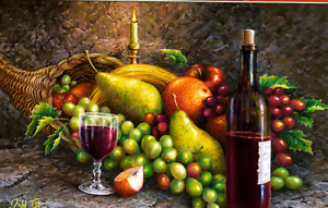 Castorland C-104604-2 - Fruit and Wine, Puzzle 1000 Pieces - New