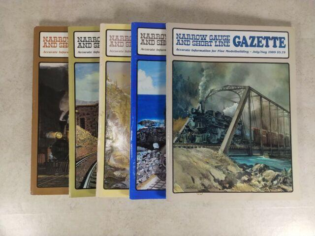 Narrow Gauge & Short Line Gazette 5 Issues 1989-90 Model