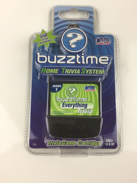 Buzztime EVERYTHING Trivia Series 1 Question Cartridge 550 Questions Cadaco