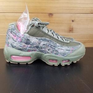 f26dad1e0e Nike Air Max 95 Women's Shoes Sz 6 Neutral Olive/Arctic Punch AQ6385 ...