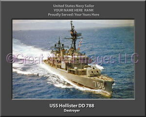 Details about USS Hollister DD 788 Personalized Canvas Ship Photo Print  Navy Veteran Gift