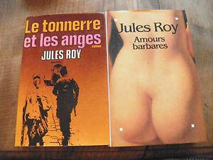 Lot-de-2-livres-de-Jules-Roy-Amours-barbares-et-Le-tonnerre-et-les-anges