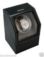 Heiden Single Watch Winder For Automatic Mechanicals Leather Finish Msrp $329.95