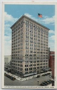 CITY-NATIONAL-BANK-BLDG-ORPHEUM-THEATER-OMAHA-NE-1920-POSTCARD
