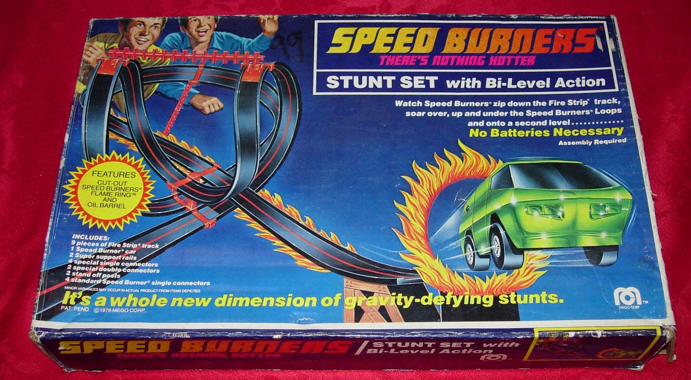 Mego velocidad Quemadores Stunt Set 1978 En Caja No hay vehículos