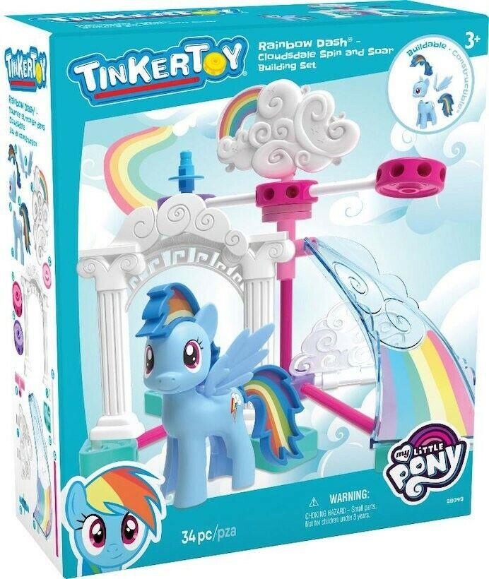 K 'nex Tinker Juguete Mi Pequeño Pony Rainbow Dash Cloudsdale Spin & Soar Set  28049