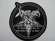 VENOM ROUND WHITE  EMBROIDERED PATCH