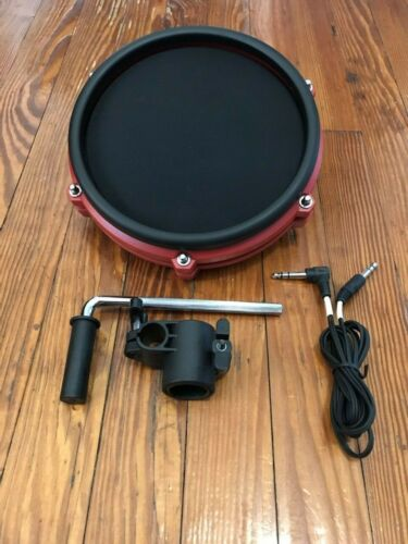 "Red Alesis 8"" Mesh Pad SE NEW w//Cable /& L-Bar Drum Single Zone Tom Nitro DM6"
