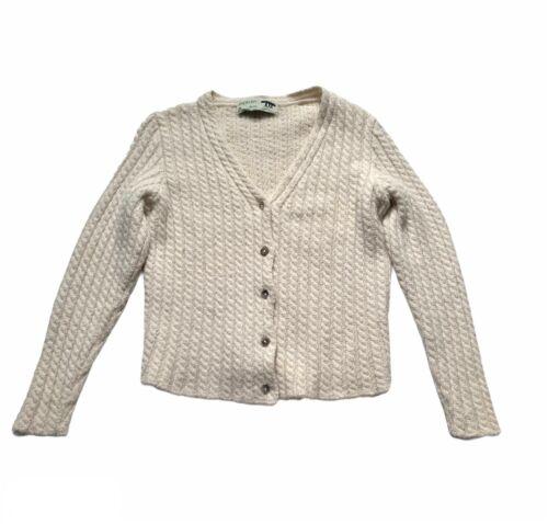 Inis Meain Women's Alpaca Wool Cardigan Sweater Ca