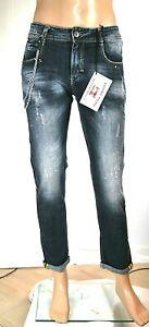 Jeans Uomo Pantaloni FRANKIE MALONE Gamba Dritta SA291 Blu Tg 44 46 48 50 54