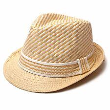 item 5 Men Women Unisex Straw Fedora Hat 100% Paper Trilby Cuban Cap One  Size - H031 -Men Women Unisex Straw Fedora Hat 100% Paper Trilby Cuban Cap  One Size ... 191bbfa1737f