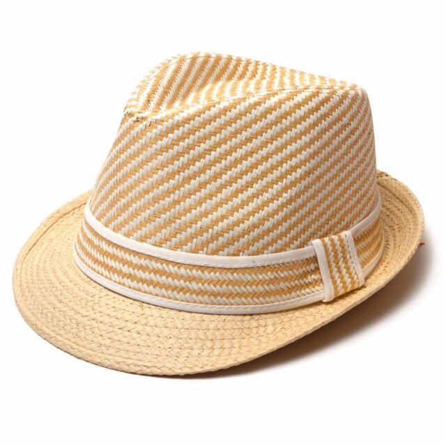 2fd5541620001c Unisex Women Men Summer Hats Striped Straw Fedora Hat 100 Paper ...
