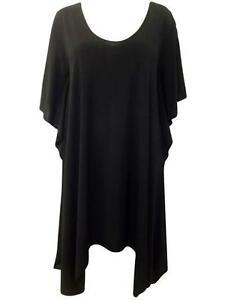 New-Ladies-Plus-Size-Black-Evening-Dress-22-24-26-28-30-32-amp-34-36
