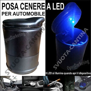 Posa-Posa-cenere-Opaco-a-Cilindro-7x10-cm-auto-a-LED-per-CITROEN-C2-C3-C4