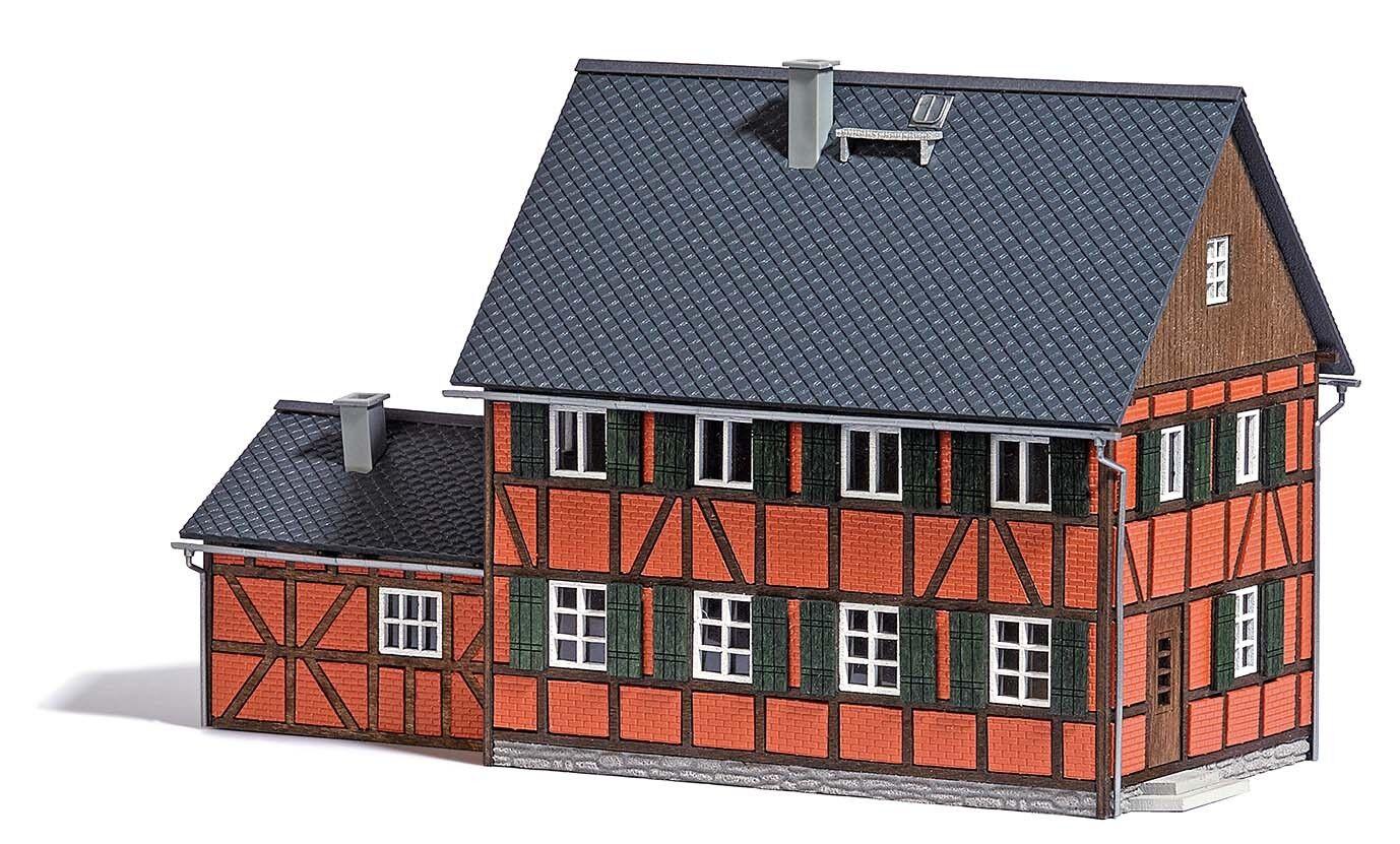 Busch 1657 Escala H0 Casa con Mapa de Construcción   Nuevo en Emb. Orig.