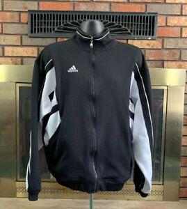 Details about Adidas Originals Retro Vintage Track Jacket 80s Mens Size Large RARE Black White