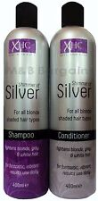 XHC Shimmer of Silver Shampoo + Conditioner Set 400ml Purple Toning Blonde Hair
