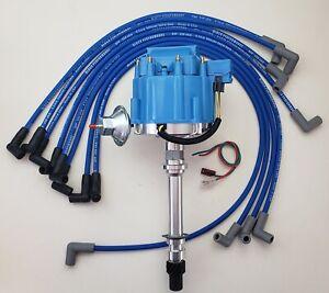 CHEVY 305 327 350 BLUE HEI DISTRIBUTOR + 8.5mm SPARK PLUG WIRES OVER VALVE  COVER | eBay | Chevy 305 Distributor Wiring |  | eBay