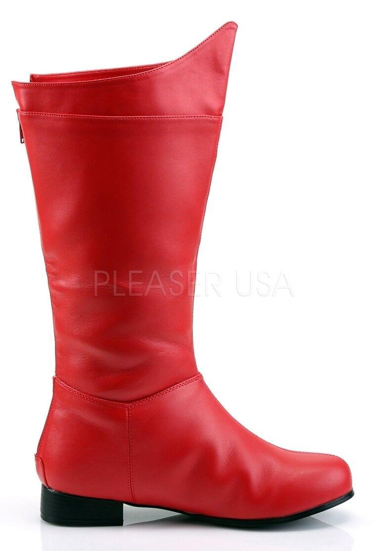Funtasma Super Héroe Crime lucha Cosplay botas Mate Rojo 8 9 10 11 12 13 14
