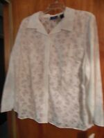 Womens Plus Size Top, Jh Womens Collection, 3x, Nwt, Belk, White, Nice