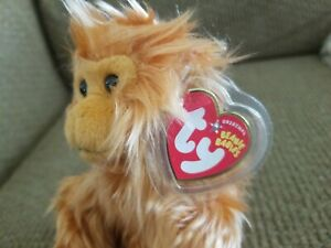 Ty CAIPORA Rare WWF Internet Exclusive Beanie Monkey 2005 Mint plastic tag cover
