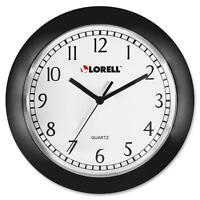 Lorell Wall Clock, 9, Arabic Numerals, White Dial/black Frame 60987 on sale