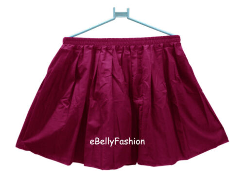 Skirt Short Mini Dress Cotton  Women Girl  Pleated Retro Elastic Waist jupe Hot